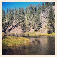Photo taken at Benham Falls Recreation Area by Dan O. on 8/30/2012