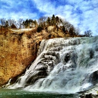 Photo taken at Ithaca Falls by Steve P. on 2/4/2012