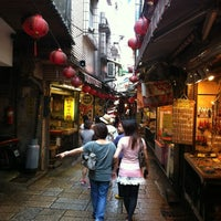 Photo taken at Jiufen Old Street by Jerry L. on 8/4/2012