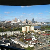 Photo taken at Radisson Hotel Cincinnati Riverfront by Abby F. on 10/21/2011