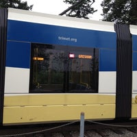 Photo taken at TriMet NW Civic Drive MAX Station by Paul A. on 5/31/2012