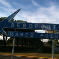 Photo taken at Venice Marco Polo Airport (VCE) by Iris P. on 10/27/2011