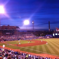 Photo taken at Durham Bulls Athletic Park by Allen S. on 5/20/2012