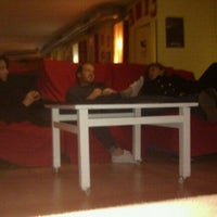 Photo taken at Yellow Nest Hostel Barcelona by Esn U. on 12/11/2011