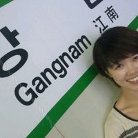 Photo taken at Gangnam Stn. by Alex F. on 9/17/2011