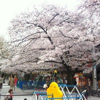 Photo taken at 市ヶ谷御門橋台の石垣石 by 7056161k0 H. on 4/10/2012