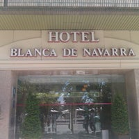 Photo taken at Hotel Blanca de Navarra by Maribel D. on 7/9/2011