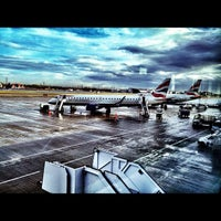Photo taken at London City Airport (LCY) by Dirk S. on 10/26/2011