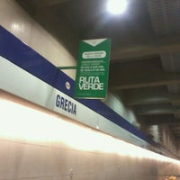 Photo taken at Metro Grecia by Marcelo Á. on 2/2/2012