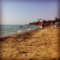 Photo taken at Playa Santa Ana by Mititelu on 9/11/2012