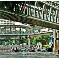 Photo taken at Sala Daeng Intersection by Sunisa P. on 4/25/2011
