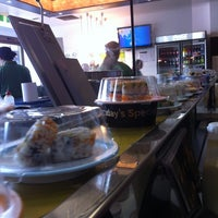 Photo taken at Sushi Train by Vanessa on 4/5/2011