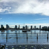Photo taken at Pier 25 - Hudson River Park by Justin S. on 8/27/2012