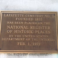Photo taken at Lafayette Cemetery No. 1 by Leeann M. on 4/26/2012