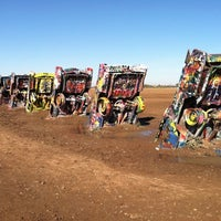 Photo taken at Cadillac Ranch by Melissa O. on 10/29/2011