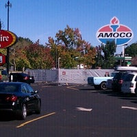 Photo taken at World's Largest Amoco Sign by Dan B. on 10/1/2011