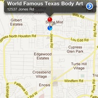 Photo taken at World Famous Texas Body Art by Johnny J. on 8/20/2011