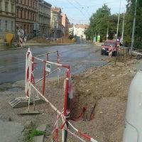 Photo taken at Pionýrská (tram, bus) by Posp on 7/31/2012