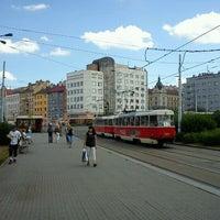 Photo taken at Palmovka (tram, bus, trol) by Tigra . on 6/7/2011