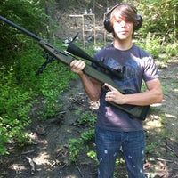 Photo taken at slowsticky's shooting range by Gringa on 5/19/2012