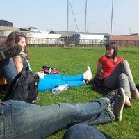 Photo taken at Graspleintje voor het Technicakot by Filip V. on 3/23/2012