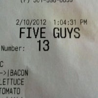 Photo taken at Five Guys by Christopher C. on 2/10/2012