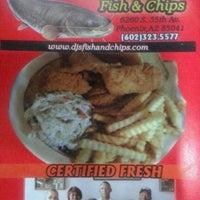 Photo taken at DJ's Fish & Chips by Christina B. on 1/17/2012