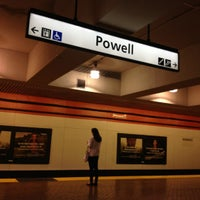 Photo taken at Powell St. BART Station by Kevin on 8/5/2012