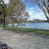 Photo taken at Lake Eola Park by Hannah Z. on 3/1/2012