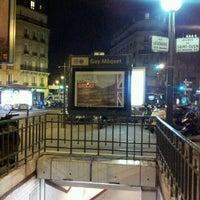 Photo taken at Métro Guy Moquet [13] by Olivier G. on 2/21/2012