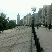 Снимок сделан в Оболонский пляж пользователем Andrii C. 5/15/2012