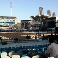 Photo taken at Dr. DY Patil Stadium (डा. डी. वाय. पाटील स्टेडीयम) by Vinit I. on 5/26/2012