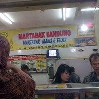 Photo taken at Martabak Bandung by Novie A. on 7/1/2012