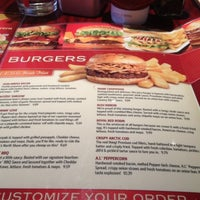 Photo taken at Red Robin Gourmet Burgers by Bre on 8/28/2012