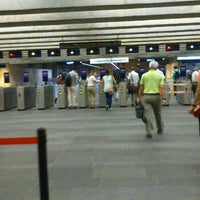 Photo taken at Metro Cais do Sodré [VD] by Carla S. on 9/11/2012