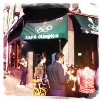 Photo taken at Café Olimpico by Hector R. on 3/18/2012