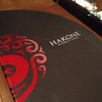 Photo taken at Hakone Japanese N' Fusion by Renata F. on 7/21/2012