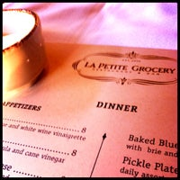 Photo taken at La Petite Grocery by michael l. on 4/4/2012