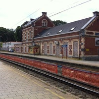 Photo taken at Gare de La Hulpe by Trond H. on 8/6/2012