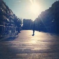 Photo taken at Plaça de la Font by David S. on 1/29/2012