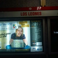Photo taken at Metro Los Leones by Karen P. on 12/31/2011