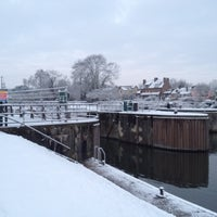 Photo taken at Sunbury lock by Andrew G. on 2/10/2012