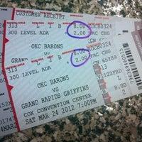 Photo taken at Oklahoma City Barons Hockey by Sheri W. on 3/24/2012