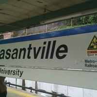 Photo taken at Metro North - Pleasantville Train Station by Luis R. on 5/8/2011