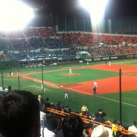 Photo taken at Mokdong Baseball Stadium by Hyunjoon S. on 4/18/2012