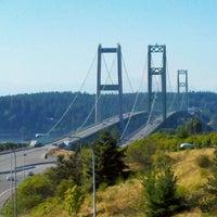 Photo taken at Tacoma Narrows Bridge by Lisa S. on 9/5/2011