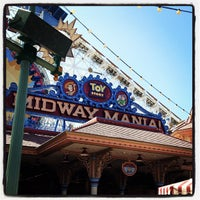Photo taken at Toy Story Midway Mania! by Kiyo A. on 9/13/2012