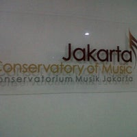 Photo taken at Jakarta Conservatory of Music by Ridha R. on 10/13/2011