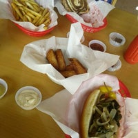 Photo taken at The Slaw Dogs at the Village by Pat F. on 10/24/2011