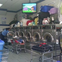 Photo taken at Brooklyn Bubbles Laundromat by Felipe F. on 10/7/2011